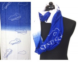 Blue White Kentucky State Map Infinity Scarf