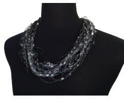 Black Diamond Gray Confetti Magnetic Necklace