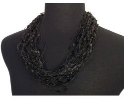 Black Confetti Magnetic Necklace