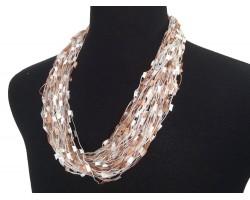 Bronze White Confetti Magnetic Necklace