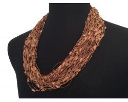 Dark Brown Confetti Magnetic Necklace