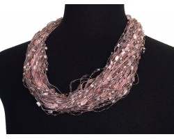 Light Pink Confetti Magnetic Necklace