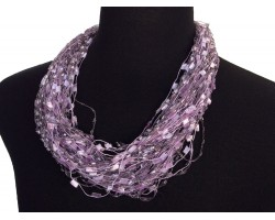 Light Purple Confetti Magnetic Necklace
