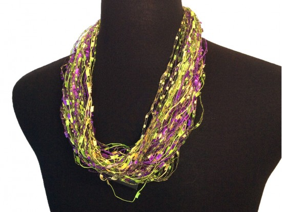 Mardi Gras Confetti Magnetic Necklace