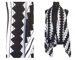 Black Diamond Striped Sleeve Cardigan