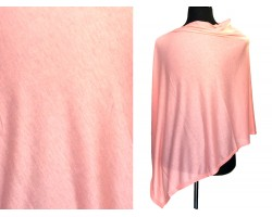 Peach Jersey Knit Side Triangle Poncho