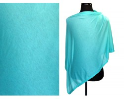 Turquoise Jersey Knit Side Triangle Poncho