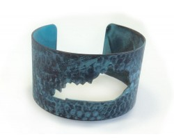 Patina Open Cut Kentucky State Map Cuff Bracelet
