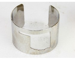 Silver Open Cut Oklahoma State Map Cuff Bracelet