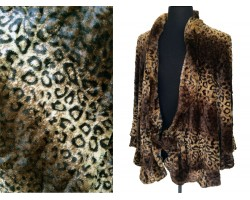 Brown Leopard Fur Shawl
