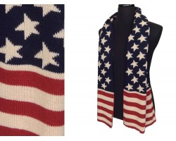 USA Flag Knit Oblong Scarf