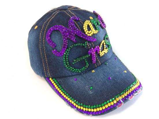 Mardi Gras Denim Ball Cap
