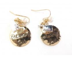 Gold Oklahoma Girl Hook Earrings