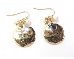 Gold Texas Girl Hook Earrings