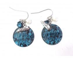 Patina Kentucky Girl Hook Earrings