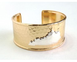 Gold Silver Kentucky Map Cuff Bangle