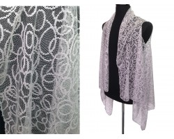 Gray Circular Pattern Lace Sleeveless Cardigan