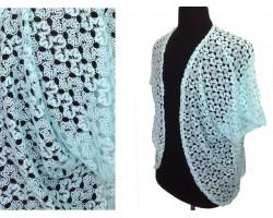 Mint Ricrac Lace Vest
