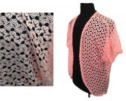 Peach Ricrac Lace Vest