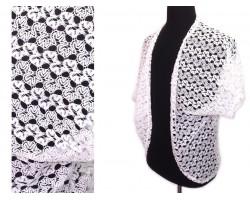 White Ricrac Lace Vest