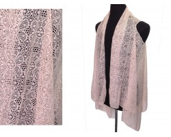Beige Floral Daisy Lace Sleeveless Cardigan