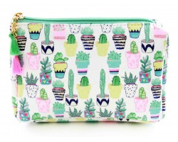 Multi Cactus in Pots Print Vinyl Bag Accessory