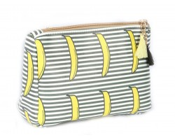 Bananas Black Strip Print Vinyl Bag Accessory