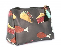 Food Print Gray Vinyl Bag Accessory