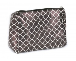 Black Quatrelfoil Print Vinyl Bag Accessory