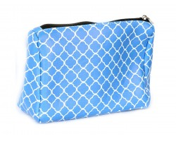 Blue Quatrelfoil Print Vinyl Bag Accessory
