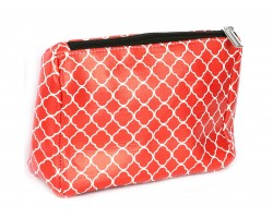 Red Quatrelfoil Print Vinyl Bag Accessory