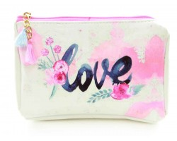 Pink Love Flower Vinyl Bag Accessory