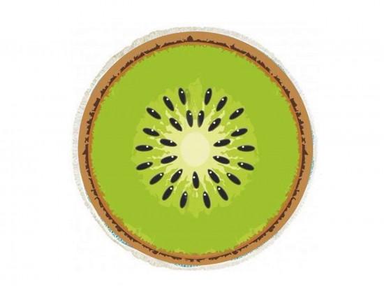 Green Kiwi Fruit Round Beach Blanke