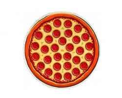 Pepperoni Pizza Round Beach Blanket