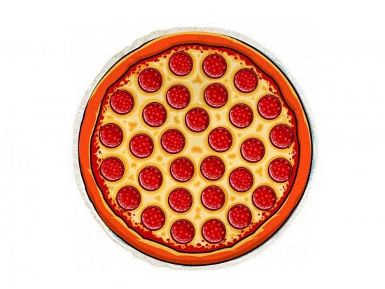 Pepperoni Pizza Round Beach Blanket