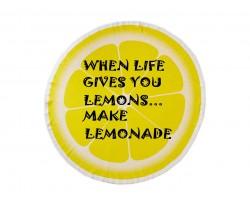 Yellow Lemon Lemonade Round Beach Blanket