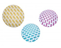 Assorted Color Pineapple Print Round Beach Blanket