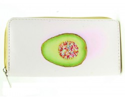 Avocado Sprinkles Vinyl Clutch Wallet