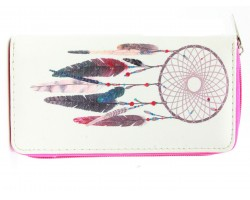 Multi Feather Dream Catcher Vinyl Wallet