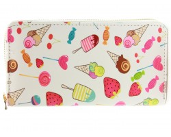 Multi Candy Sweets Vinyl Clutch Wallet