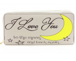 Love You to the Moon And Back Vinyl Clutch Wallet