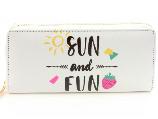 Multi Sun & Fun Arrow Vinyl Clutch Wallet