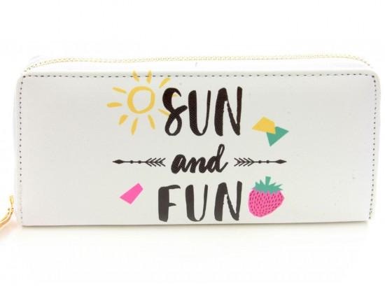 Multi Sun & Fun Arrow Vinyl Clutch Wallet