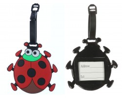 Red Ladybug Silicon Luggage Tag