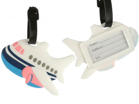 Blue Airplane Liner Silicon Luggage Tag