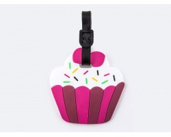 Pink Cupcake Sprinkles Silicon Luggage Tag