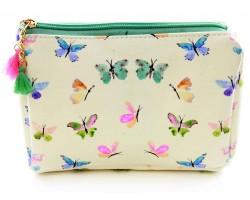 Multi Colored Butterflies Print Vinyl Bag Accessory