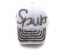 SPURS Crystal Script White Ball Cap
