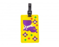 Yellow Louisiana State Map Home Silicon Luggage Tag