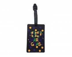 Mardi Gras Mask Silicon Luggage Tag